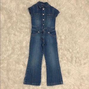 Girls 5 denim jeans pants jumpsuit TCP
